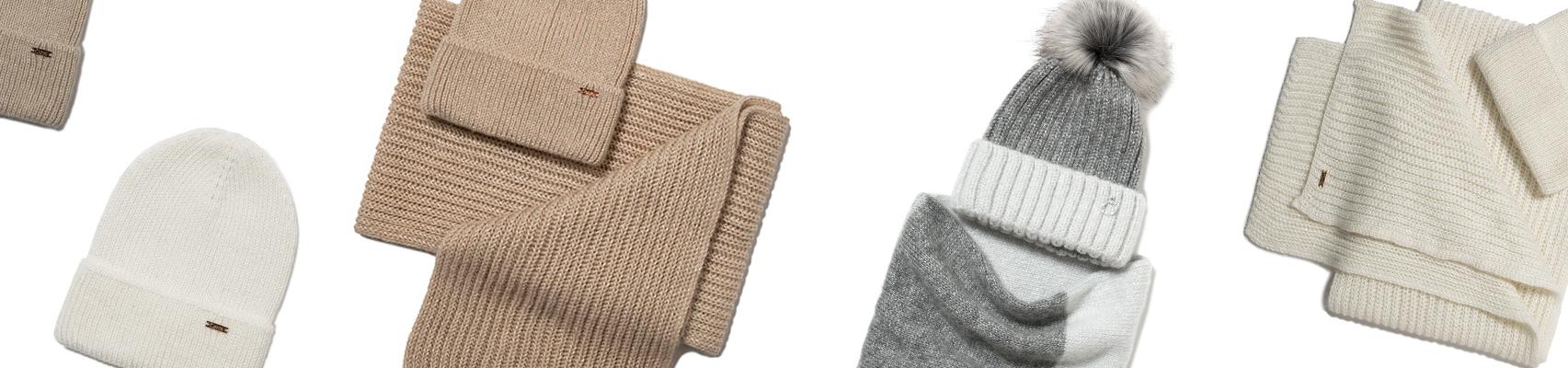 Лимитированная коллекция вязаных шапок и шарфов  от Conte